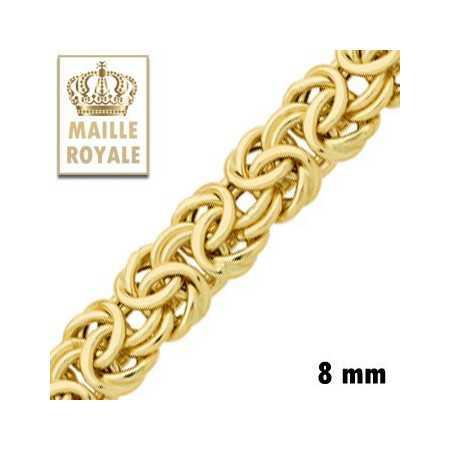 Bracelet or maille royale