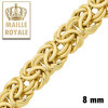 Bracelet or maille royale