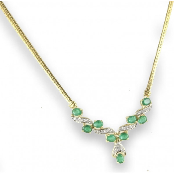 Collier émeraudes et diamants