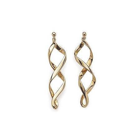 Boucles d oreilles plaqué or spirales plates