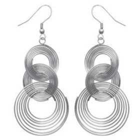 Grandes boucles d'oreilles acier ressorts aplatis