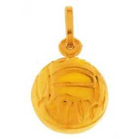Pendentif ballon de basket en or