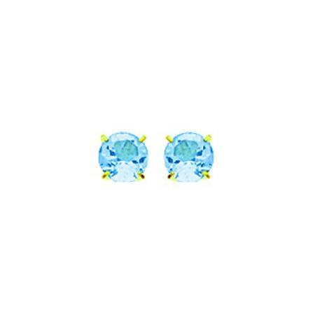 Boucles d'oreilles topazes bleue 3 mm