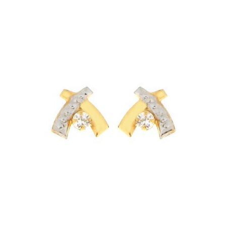 Boucles d'oreilles or et oxydes de zirconium