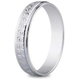 Alliance or blanc de 4 mm, diamantée brillante