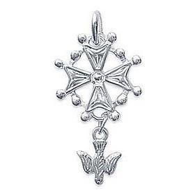 Croix huguenotte en argent