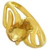 Bague or et citrine ovale de 7 x 5 mm