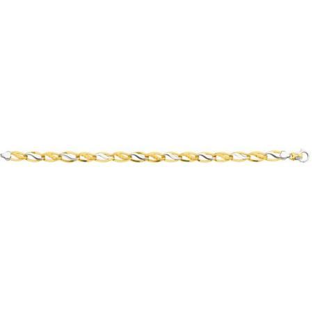 Bracelet or bicolore