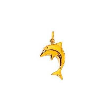Pendentif dauphin en or jaune