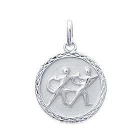 Médaille zodiaque Gémeaux argent