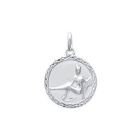 Médaille zodiaque Vierge en argent