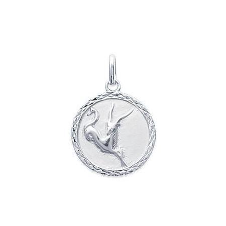 Médaille zodiaque Capricorne en argent