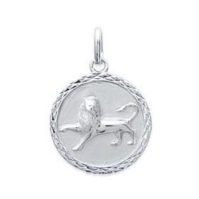 Médaille zodiaque Lion en argent