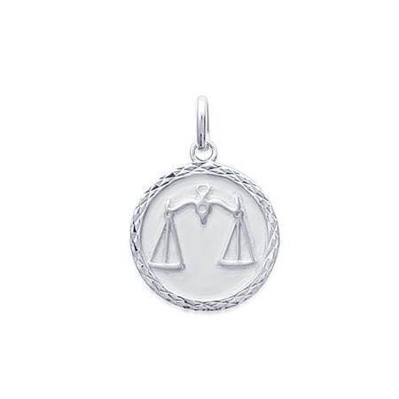 Médaille zodiaque Balance en argent