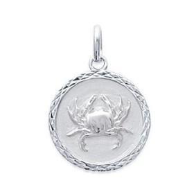 Médaille zodiaque Cancer en argent