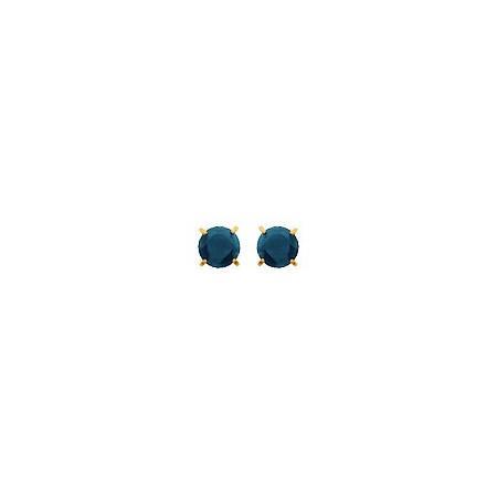 Clous d'oreilles or, saphirs 3 mm