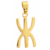 Pendentif croix kabyle en plaqué or