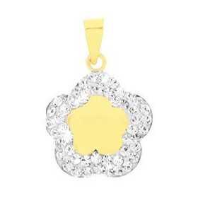 Pendentif étoile en or jaune et cristal