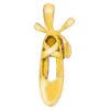 Pendentif chausson de danse en plaqué or