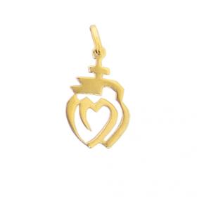 Pendentif coeur de la vendée en plaqué or