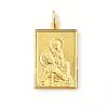 Médaille rectangulaire Saint Christophe plaqué or