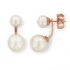 Boucles d'oreilles plaqué or rose et perles