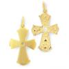 Croix plaqué or avec oxyde de zirconium