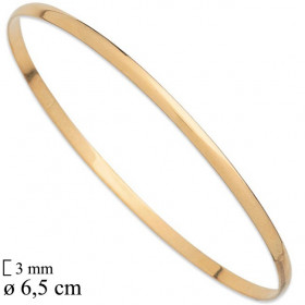 Bracelet or demi-jonc massif 3 mm