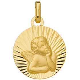 Médaille en or diamanté avec ange