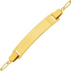 Bracelet identité pour bébé en or