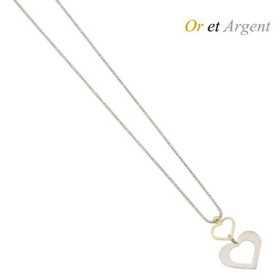 Collier coeur en or et argent