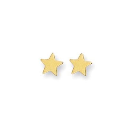 Clous d'oreilles plaqué or en forme d'étoiles