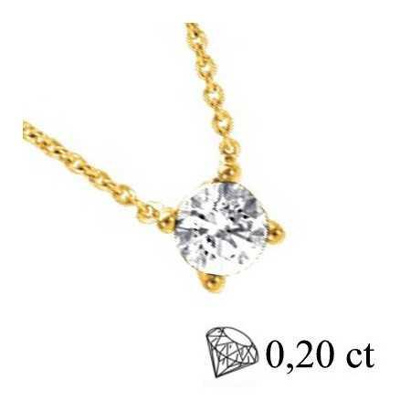Collier diamants 0,20ct