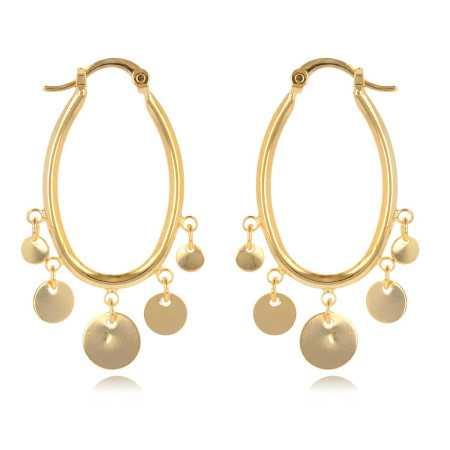 Oriental D'oreilles Or Boucles Plaqué Style zMpqUVGS