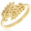 Bague plaqué or avec motifs palmes