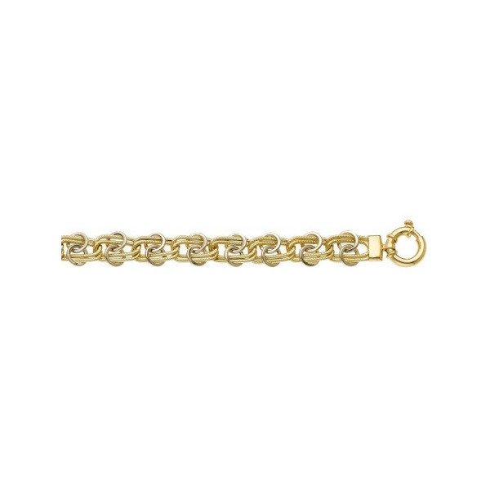 Bracelet or mailles fantaisie