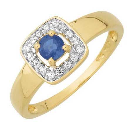 Bague saphir or bicolore et diamants