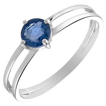 Bague saphir et diamants 0,70 carat or gris