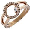 Bague diamants or rose et diamants