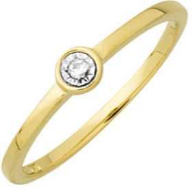 Bague diamant or jaune et diamants