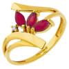 Bague rubis or jaune et diamants