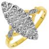 Bague diamants or jaune avec pavage