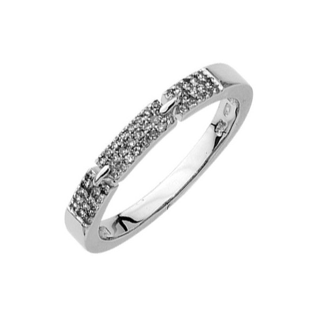 Bague diamants 0,15 carat or gris