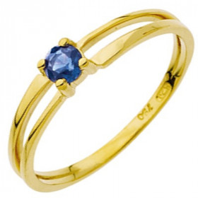 Bague saphir 0,25 carat or jaune