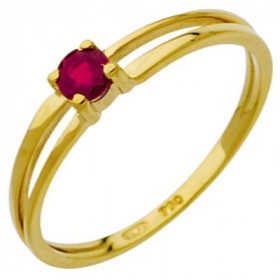 Bague rubis 0,24 carat or jaune