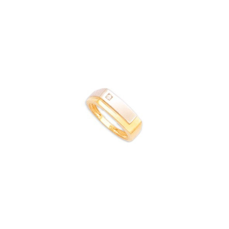 Chevalière or et diamant