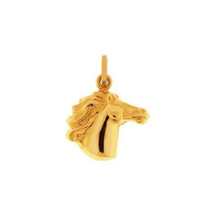 pendentif tête de cheval en or