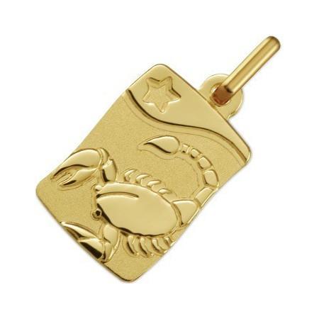 Médaille zodiaque Scorpion en or