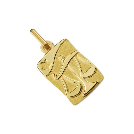 Médaille zodiaque Balance en or