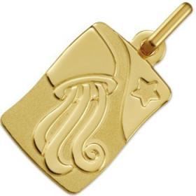 Médaille zodiaque verseau en or
